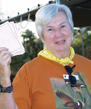 Cynthia-Pruitt-with-raffle-tickets-by-Kendall-Kroesen